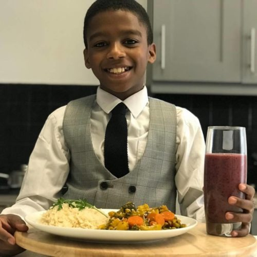 11-Year-Old Vegan Chef Becomes CEO of Plant-Based Caribbean Restaurant