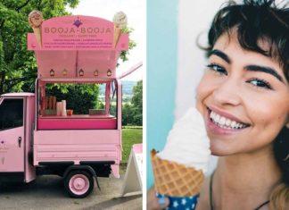 Bright Pink Vegan Ice Cream Tuk Tuk Arrives in Bristol
