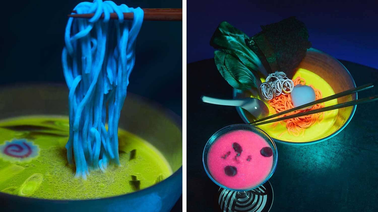 Glow-in-the-Dark Vegan Ramen Arrives in Los Angeles