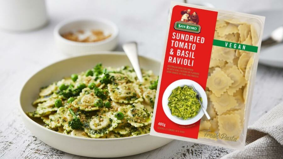 San Remo Launches 3 New Vegan Ravioli Fresh Pasta Flavors