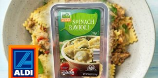 Vegan Spinach-Filled Ravioli Just Launched at Aldi