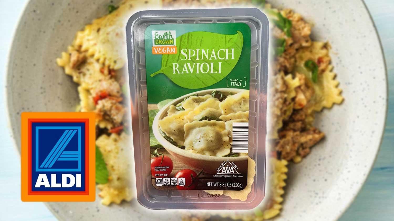 Vegan Spinach-Filled Ravioli Just Launched at Aldi