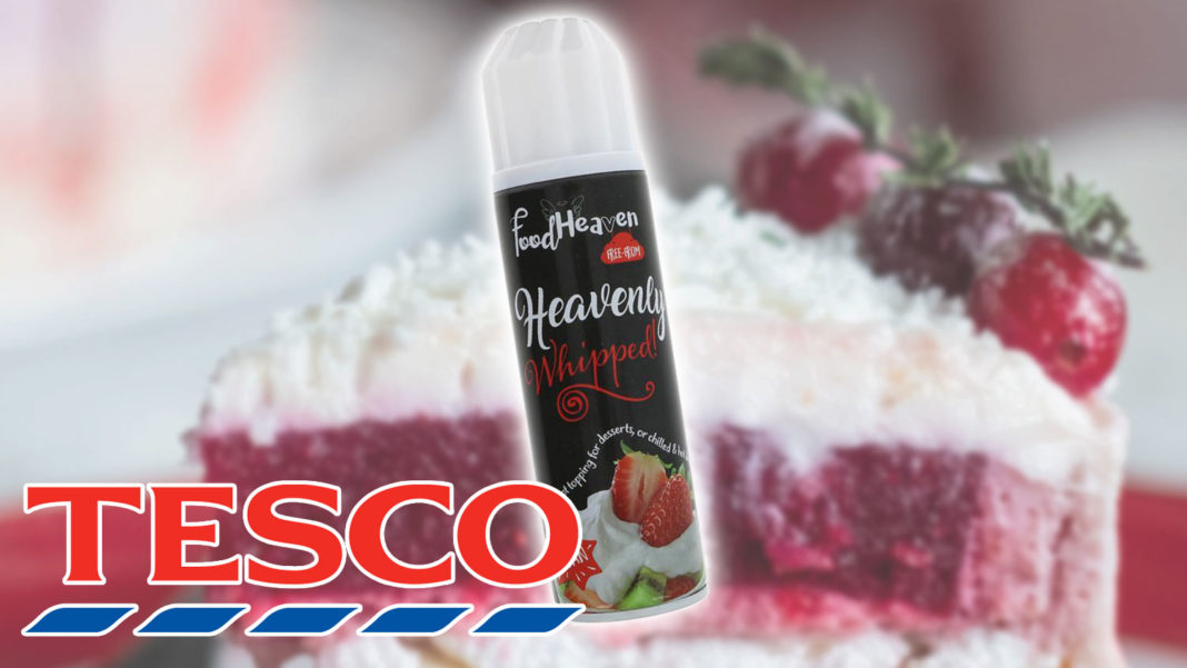 Vegan Squirty Whipped Cream Now at Tesco