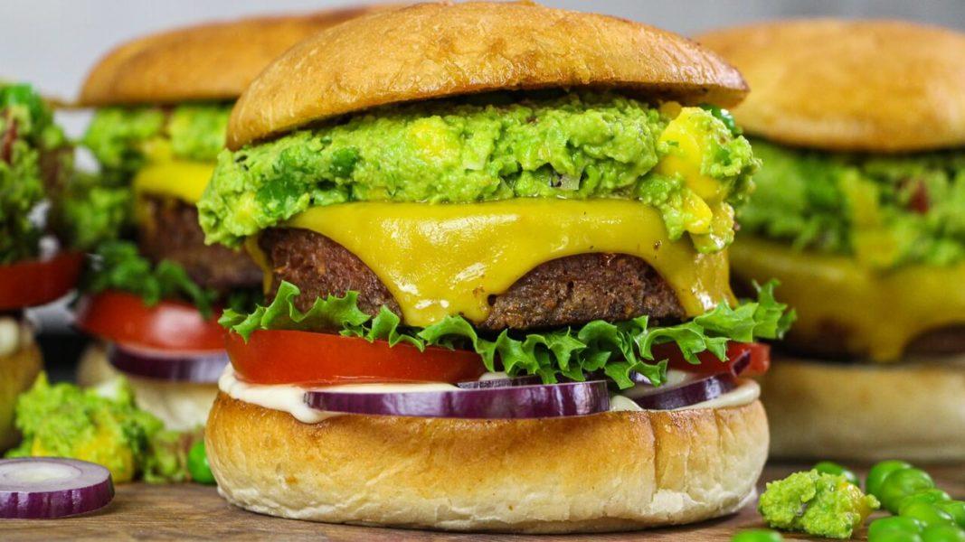The Ultimate Vegan Mango and Avocado Topped Burger