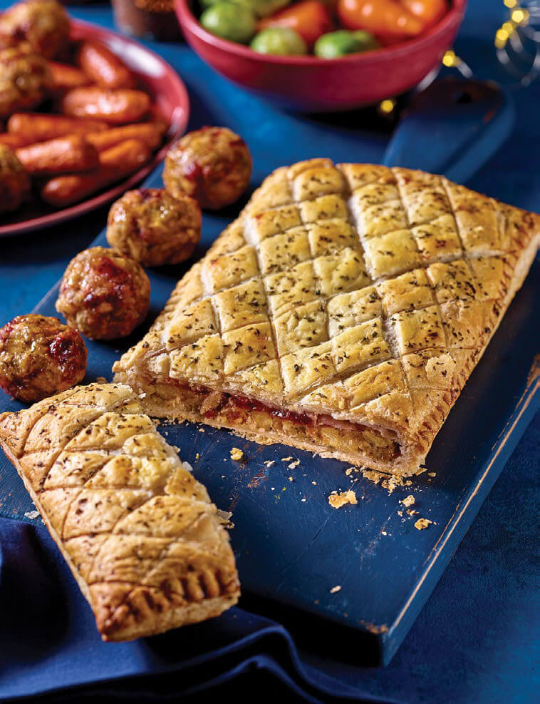 Asda Reveals Vegan Christmas Range Including Chickpea Wellington and Gold Chocolate Dessert