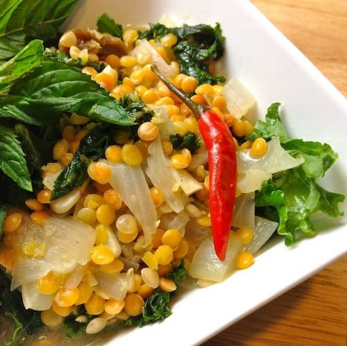 Creamy Vegan Thai Lentil Dal With Kale and Coconut