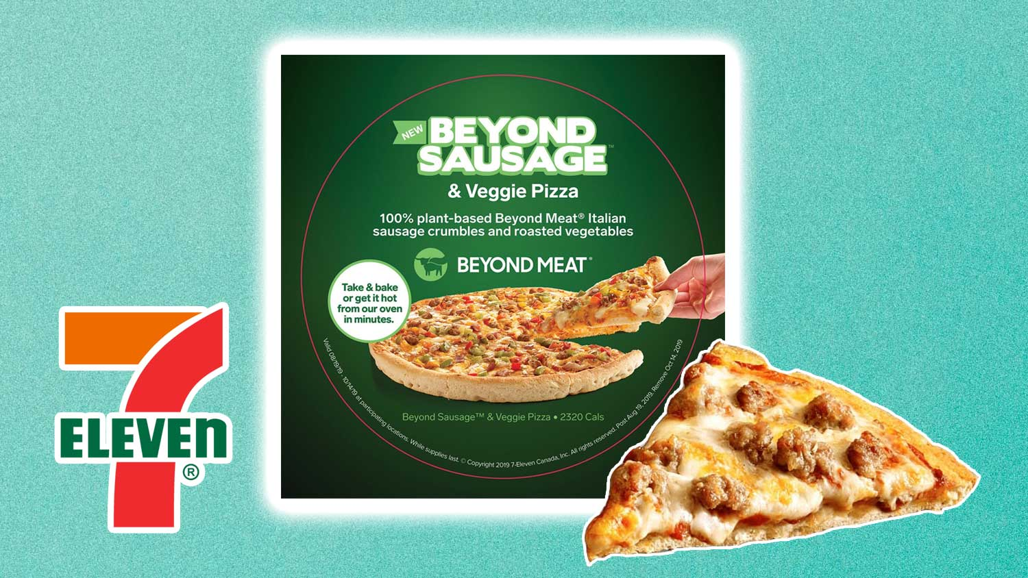 7-Eleven Launches Vegan Beyond Meat Sausage Topped Pizza