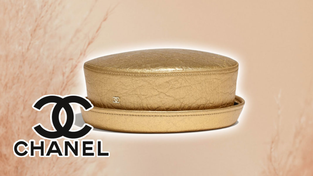Chanel Makes a Gold Hat Out Of Pineapple Leather