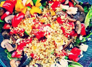 Warm Vegan Mushroom Salad With Dairy-Free Parmesan