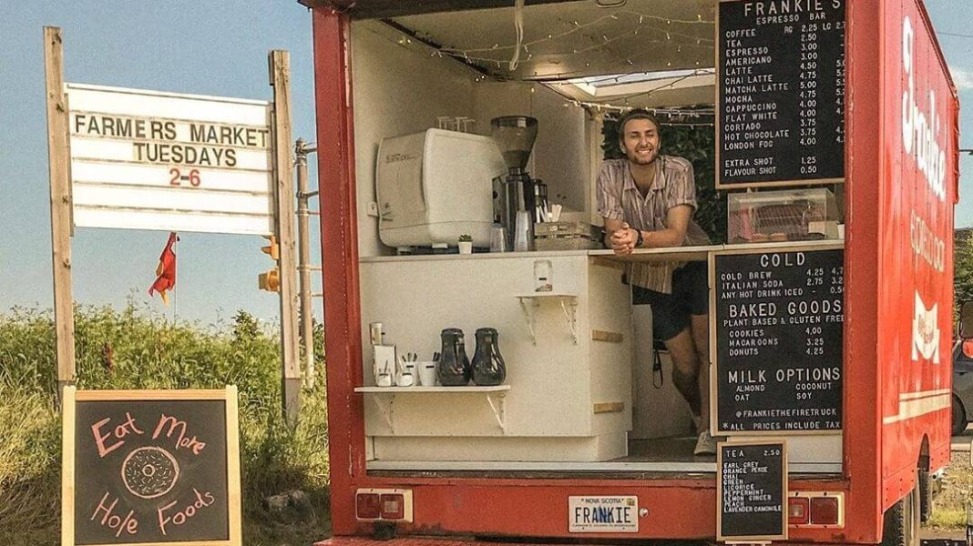 This Old Firetruck Is Now Nova Scotia's First Vegan Café