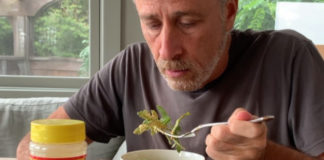 Jon Stewart Demonstrates the Right Way to Eat 'Nooch'
