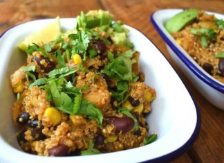 Vegan Mexican-Style Quinoa With Sweet Corn and Beans