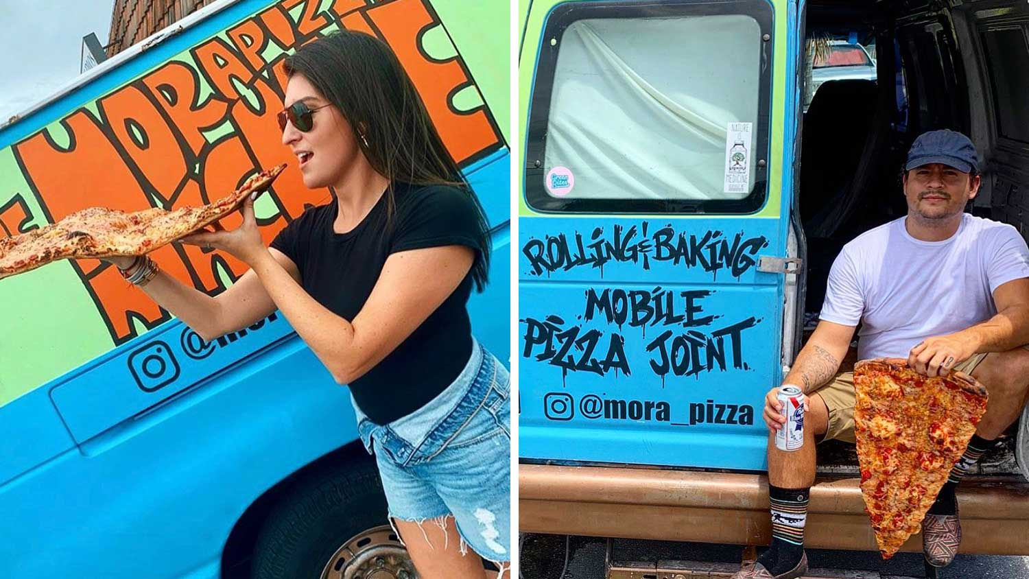 You Can Buy 2-Foot Long Vegan Pizza Slices Out of The Back of This Van