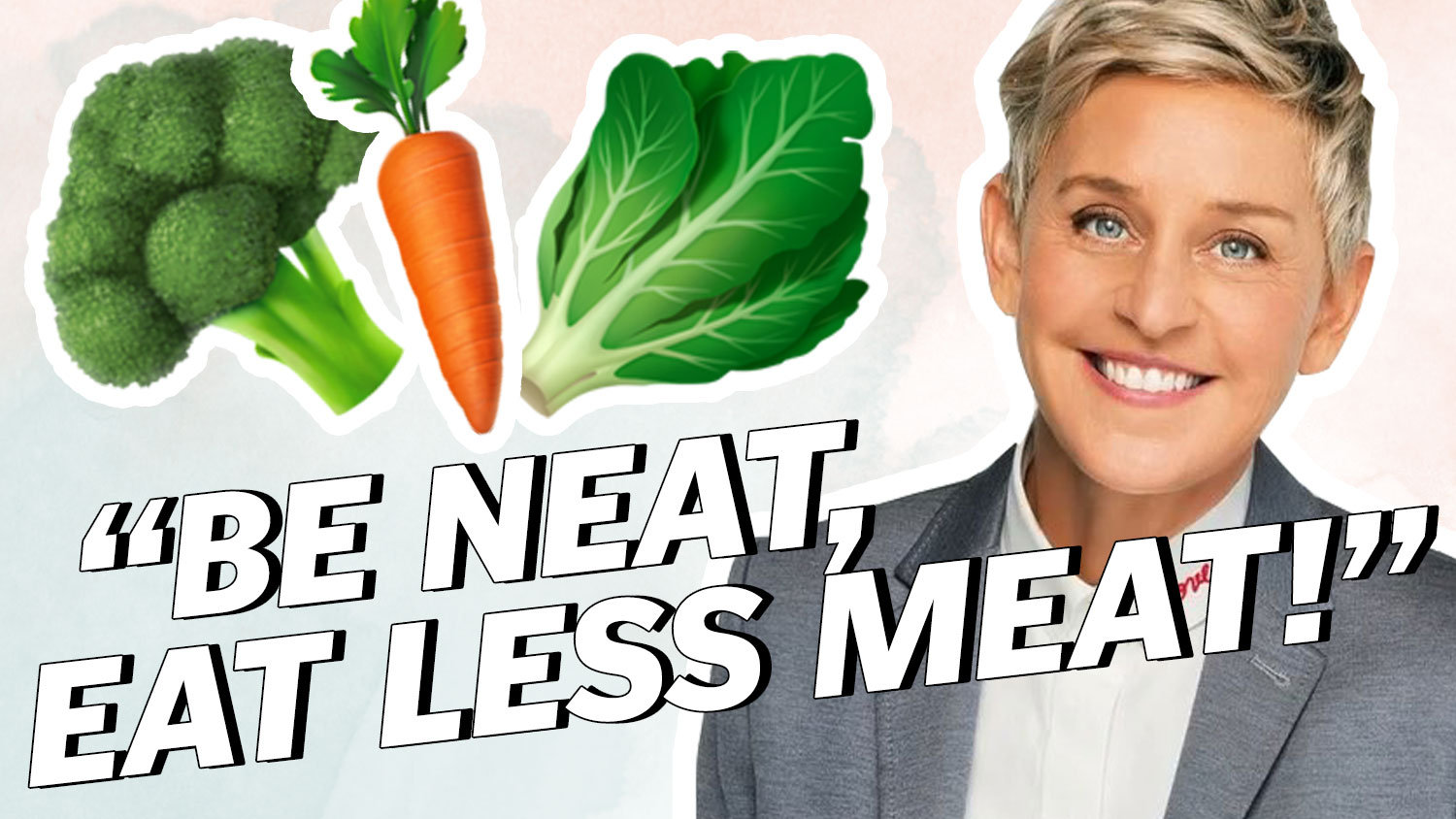 ELLEN Degeneres Says DITCH MEAT (For The Planet)