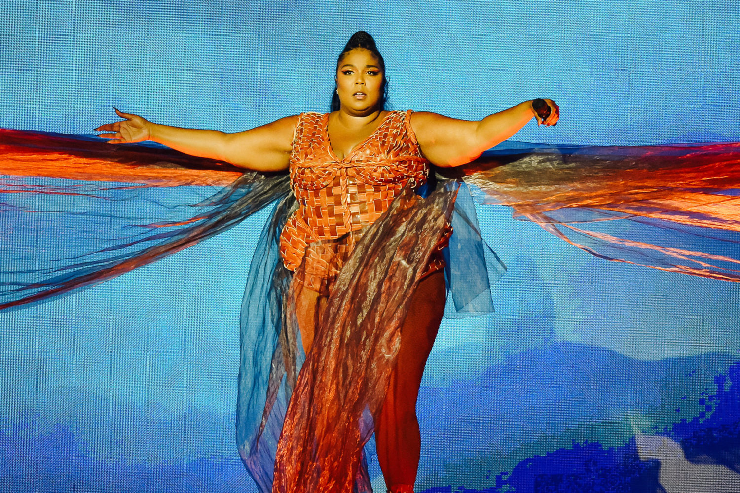 Lizzo revealed she was vegan on TikTok. | Getty Images