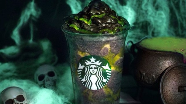 Starbucks Now Has Vegan Black Whipped Cream Phantom Frappuccinos for Halloween