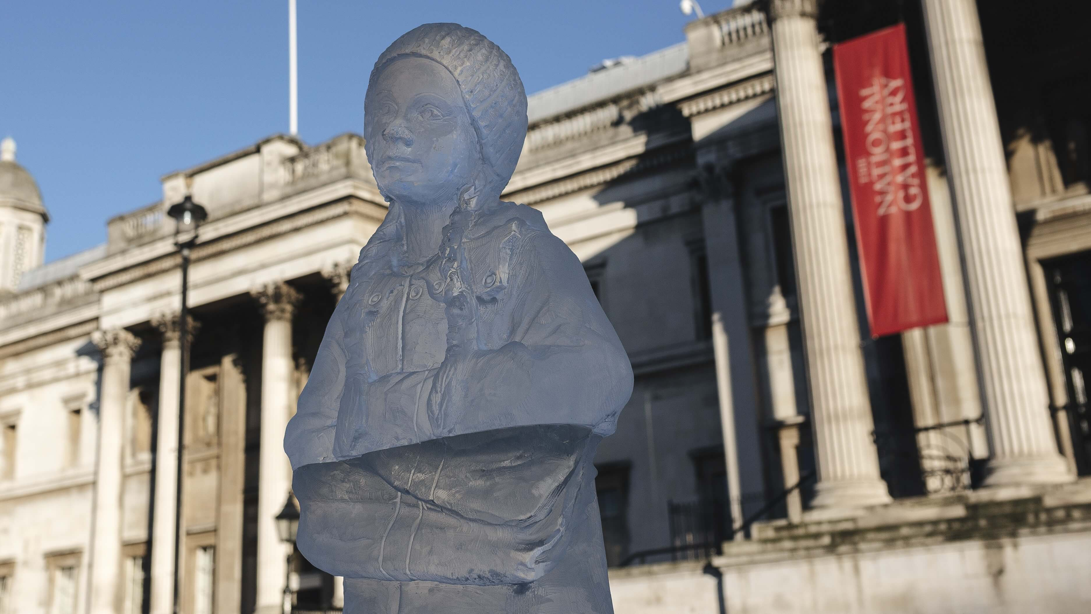 This Greta Thunberg Ice Sculpture Is Melting (Like All Of the Glaciers)