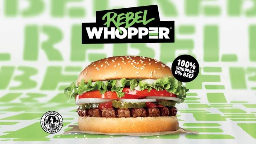 Burger King Launches Vegan Rebel Whopper Burger in the UK (Updated January  6, 2020) | LIVEKINDLY