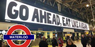 New Oatly Billboard at Waterloo Station: Eat Like a Vegan
