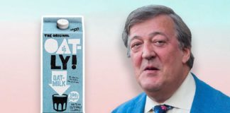 Stephen Fry Defends Vegan Milk to Critics