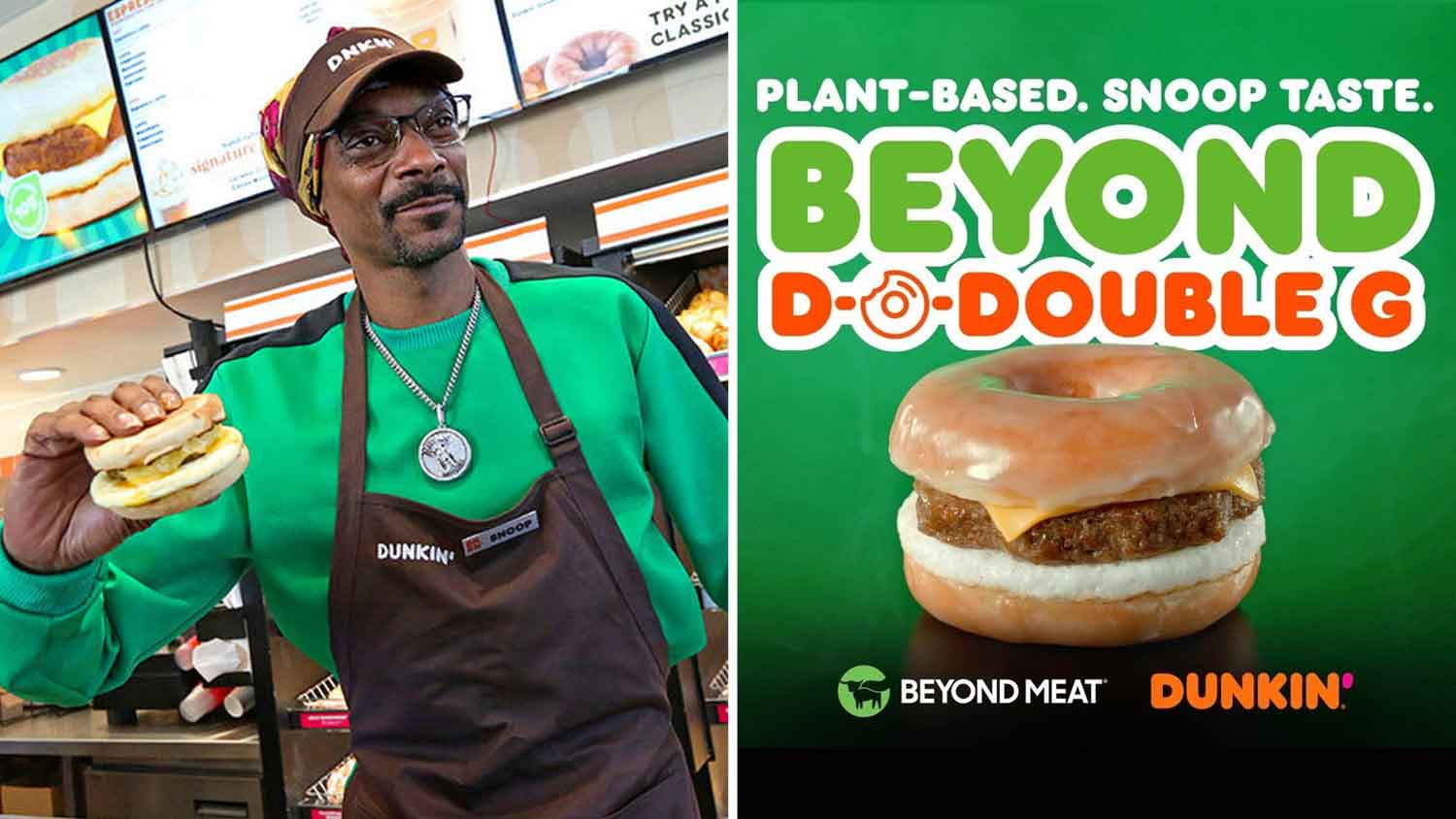 Snoop Dogg Stars In Dunkin's New Vegan Sausage Television Commercial