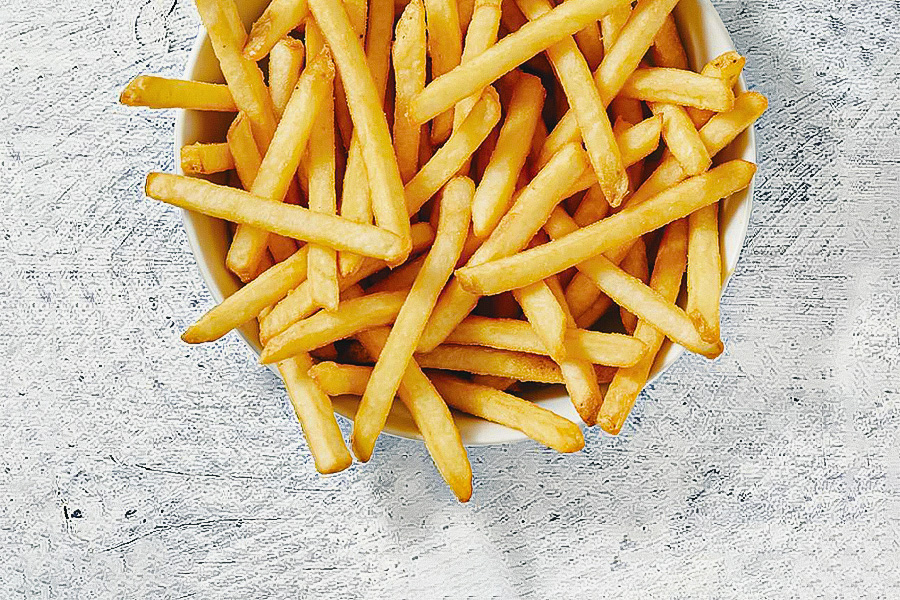 Portion of Pizza Hut Canada's vegan-friendly fries.