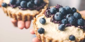 Make These Easy Vegan Lemon-Blueberry Cheesecake Tarts