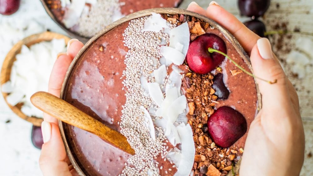 Make This Vegan Acai Cherry Smoothie Bowl for Any Meal of the Day
