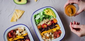Vegan Protein-Packed Mexican Bowls With Avocado and Salsa