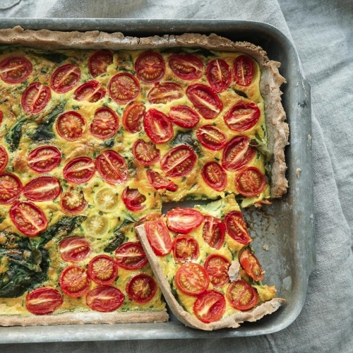 Tomato and Spinach Pie