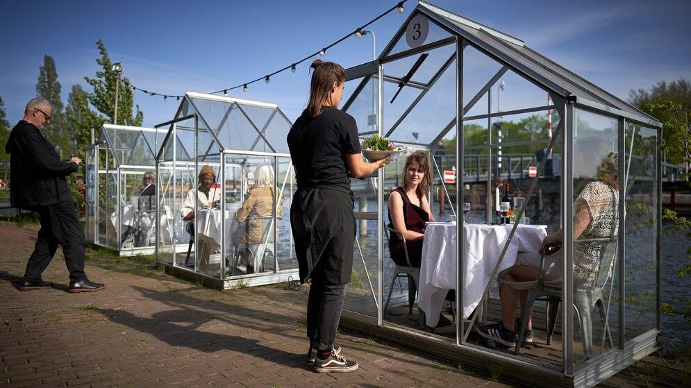 Amsterdam Restaurant Serves Vegan Meals in Quarantine Greenhouses