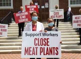 Nurses Protest to Shut Down Slaughterhouses to Protect Public Health