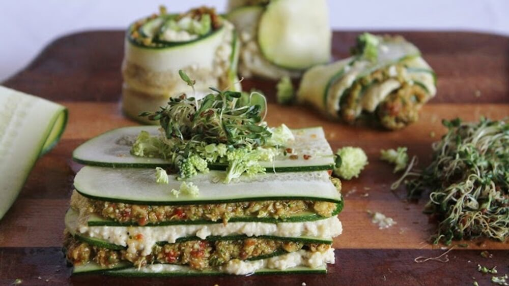 Easy No-Bake Vegan Pesto Lasagna With Layers of Cashew Cheese
