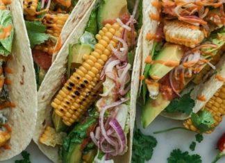 Vegan Sweet Corn and Avocado Tacos With Sriracha Mayo Sauce