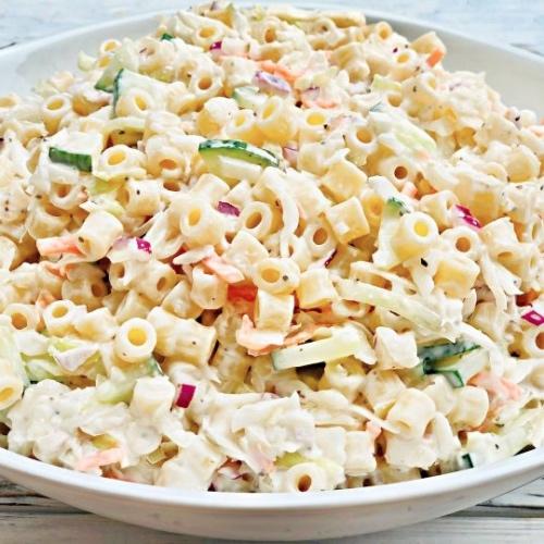 Creamy Vegan Coleslaw Pasta Salad