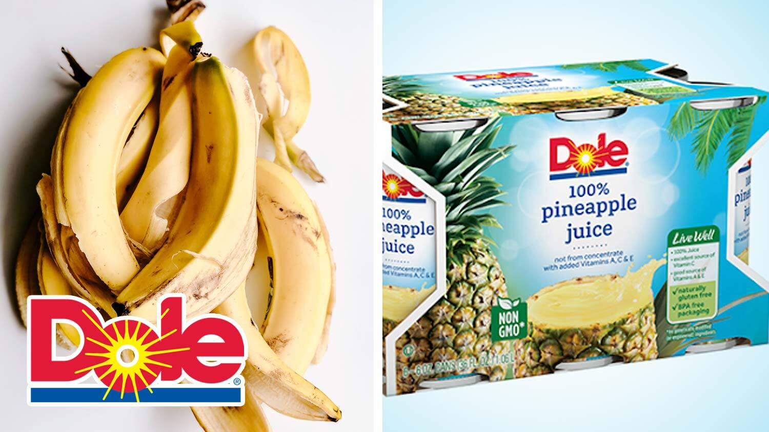 Dole to Turn Bananas and Pineapples Into Packaging