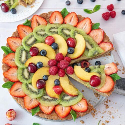 Top This Vegan Lemon Custard Tart With Seasonal Fruit