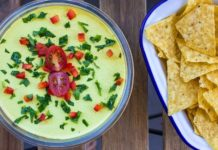 Creamy Vegan 4-Layer Mexican Dip