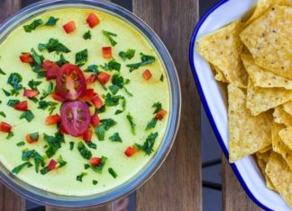 Creamy Vegan 4-Layer Mexican Dip