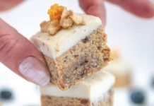 No-Bake Vegan Carrot Cake Squares With Walnuts and Dates