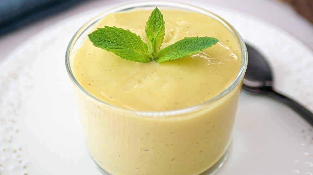 Vegan Lemon-Vanilla Soy Milk Custard With Fresh Fruit