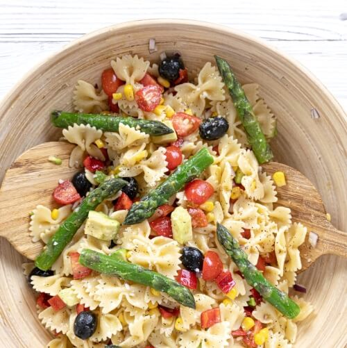 Easy Vegan Pasta Salad With Lemon Vinaigrette
