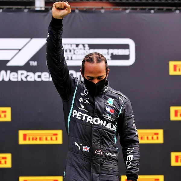 Lewis Hamilton Gave the Black Power Salute After Winning at Styrian