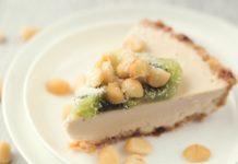 No-Bake Vegan Cashew Tart With Macadamia Nuts and Kiwi