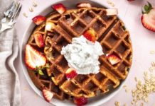 3-Ingredient Vegan Oatmeal Waffles