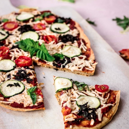Make This Vegan Chickpea Flour Pizza Crust With Just 5 Ingredients