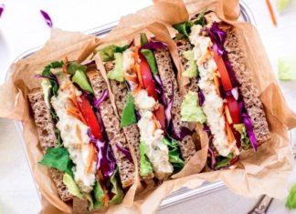 Vegan Artichokes and White Bean Sandwiches Stuffed With Veggies
