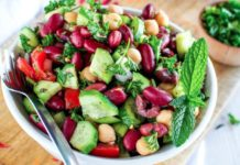 Middle Eastern-Inspired Cucumber, Tomato, and Bean Salad