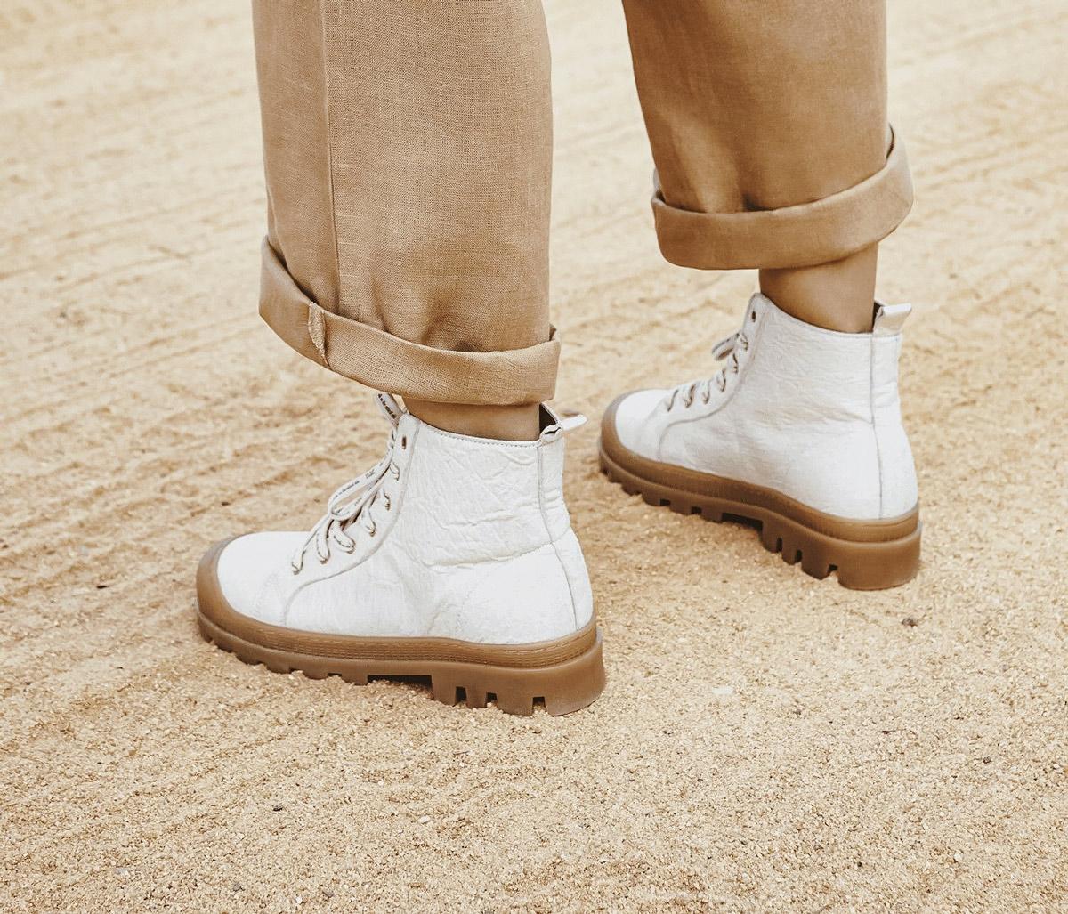 Noah Piñatex High-Top Vegan Sneaker Boots by NAE Vegan Shoes