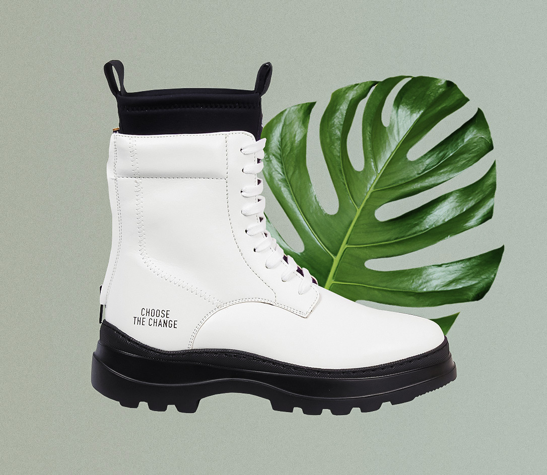 Vegan Moon White Boot by Womsh